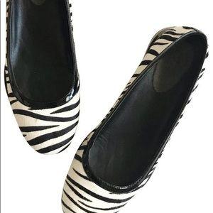 Cole Haan Manhattan Ballet Flats, zebra calf hair